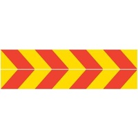 REFLECTIVE STICKER - Red/Yellow Chevron
