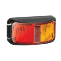 LED CLEARANCE - Red/Amber, with Black Base (Narva)