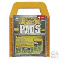 JACK PADS - Yellow, Set of 4
