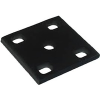 "FISH PLATE - Slotted, Black (5/8"" U Bolts)"