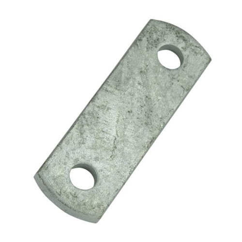 "SHACKLE PLATE, GALVANISED - 9/16"" Holes, 75mm Centres"