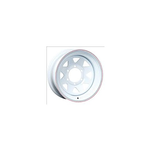 "RIM ONLY - 15"" Land Cruiser 6 Stud, White"