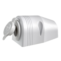 12V Socket - Surface Mount, Single (White)