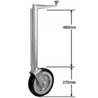 "10"" Jockey Wheel - Heavy Duty 60mm Tube"