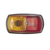 CLEARANCE MARKER - Red/Amber, Oval