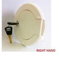 Water Filler, Lockable - White, Right Hand