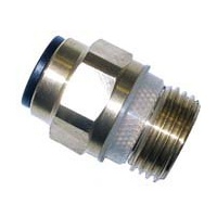 "PUSH FIT Male Brass/Chrome 1/2"" to 12mm ( PFMB )"