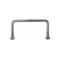 U Bolts (Square) 150mm x 90mm x 12mm zinc
