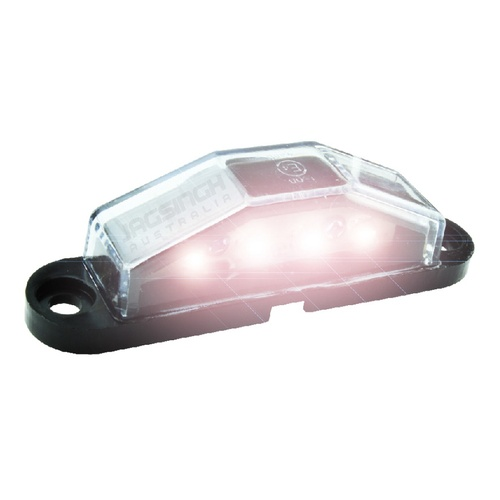 LED NUMBER PLATE LIGHT - Black, Small